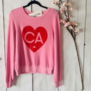 WILDFOX / CANADA HEART SWEATER